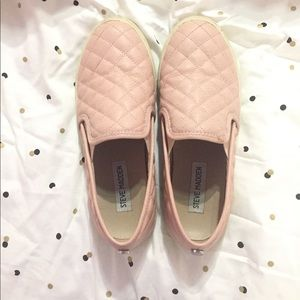 STEVE MADDEN Pink Ecentrcq Quilted Leather Sneaker